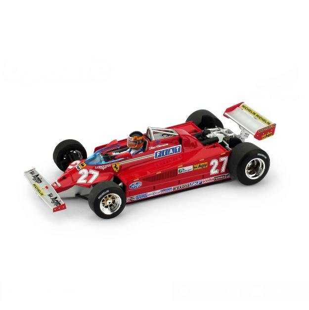 BRUMM/ブルム フェラーリ 126CK ターボ 1981年イタリアGP #27 G. Villeneuve  フィギュア付