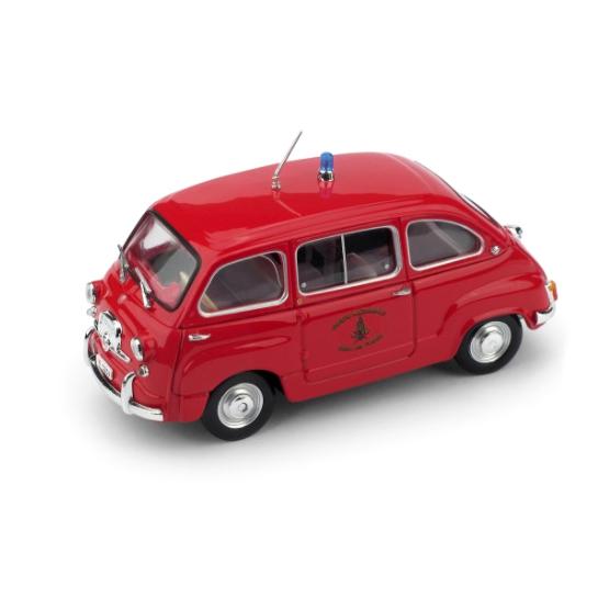BRUMM/ブルム フィアット 600D ムルティプラ 消防車 1960