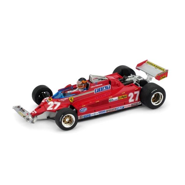 BRUMM/ブルム フェラーリ 126 CK ターボ 39周-54週目 1981年モントリオールGP #27 フィギュア付