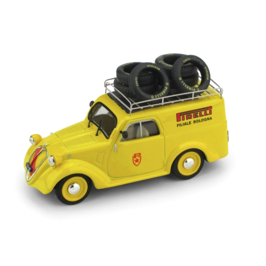 BRUMM/ブルム フィアット 500B ミニバン 1950 ミッレ・ミリア PIRELLI サービスカー