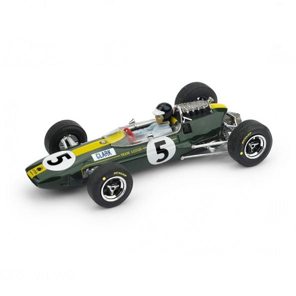 BRUMM/ブルム ロータス 33 1965年イギリスGP 1位 #5 J. Clark  ドライバーフィギュア付