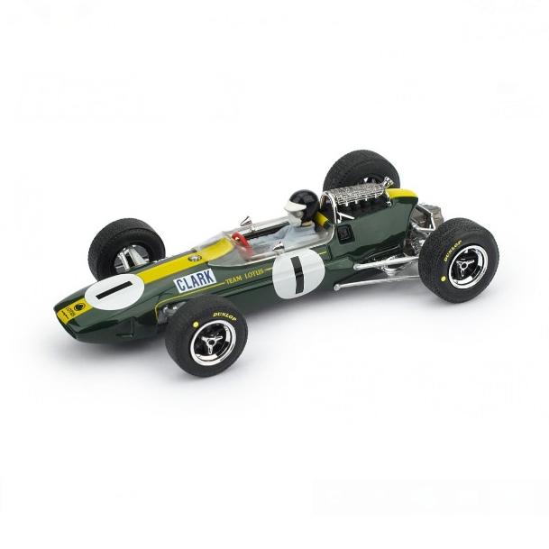 BRUMM/ブルム ロータス 33 1965年ドイツGP 1位  #1  J. Clark  ドライバーフィギュア付