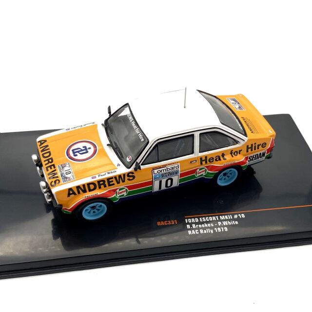 ixo/イクソ フォード エスコート MKII 1979年RACラリー #10 Brookes /White