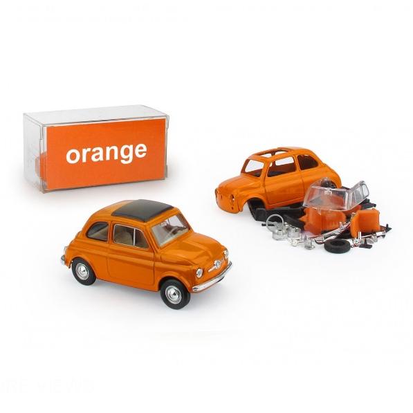 BRUMM/ブルム フィアット 500 レインボー  オレンジ   (キット)