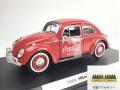 MOTORCITY CLASSICS VW ビートル レッド 1966 後部荷物ラック ボトルケース2個付
