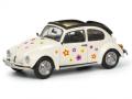 Schuco/シュコー VW ビートル オープンルーフ Flower ホワイト