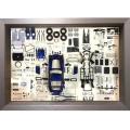 CMC/シーエムシー フェラーリ 250 GTO パーツディスプレイボード ブルー
