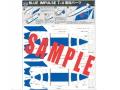 KBオリジナル アイテム ペーパークラフト T-4 ブルーインパルス 燃料タンク WEBショップ限定品