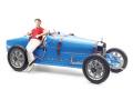 CMC/シーエムシー ブガッティ T35 1924 ブライトブルー 女性ドライバーフィギュア付