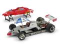 BRUMM/ブルム フェラーリ 126C2 1982年サンマリノGP #27 Villeneuve ドライバー&パラソル