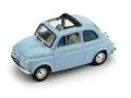 BRUMM/ブルム フィアット 500D オープン 1962-1963 Pervinca ブルー /インテリア ブルー アイボリー