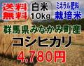 本州限定・送料無料!!28年産!!ミネラル肥料で育てた群馬県・みなかみ町産コシヒカリ白米10kg【5kg×2】