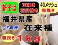 27年産!!福井県産在来種・玄挽き粗挽き石臼挽き粉【1kg】