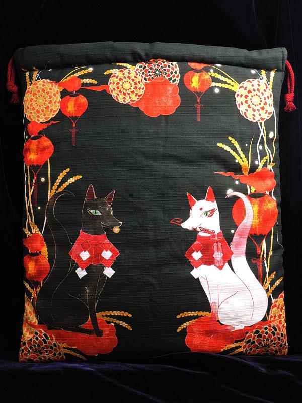 狐巾着「守護狐」(狐面用)
