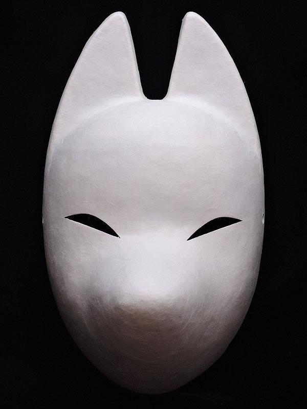 絵付け用生地狐面≪羽二重張り≫