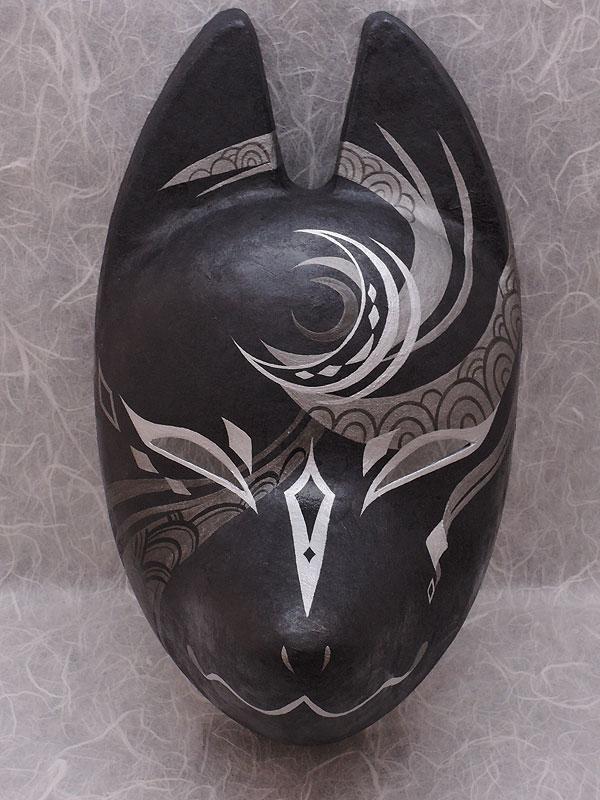狐面堂:狐面「宵闇」≪羽二重張り≫