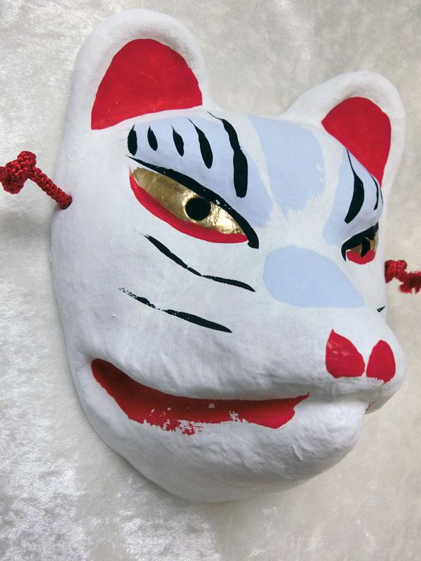 京都きつね面・白|子狐