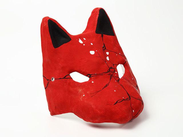 半狐面 赤・クラック