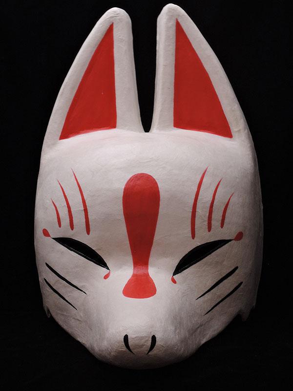 半狐面「白」≪羽二重張り≫