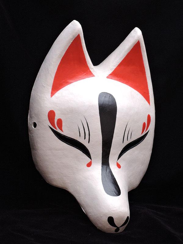 狐面堂:半狐面「白宵」≪羽二重張り≫