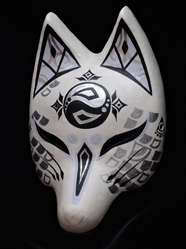 半狐面「龍神」≪羽二重張り≫