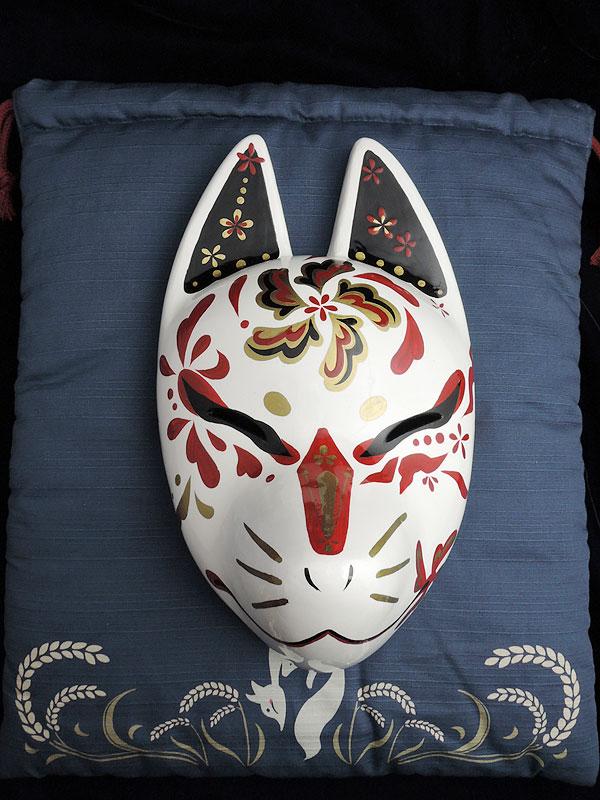 狐巾着「稲穂狐」(狐面用)