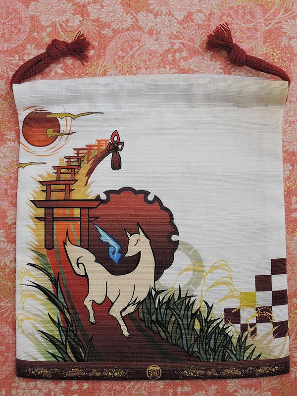 狐面堂:狐巾着「稲荷参り」(小)