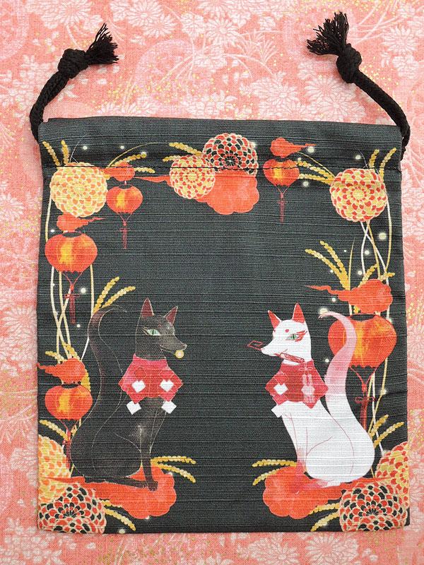 狐面堂:狐巾着「守護狐」(小)