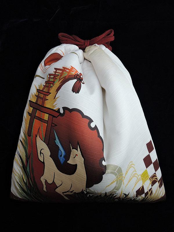 狐面堂:狐面用巾着「稲荷参り」