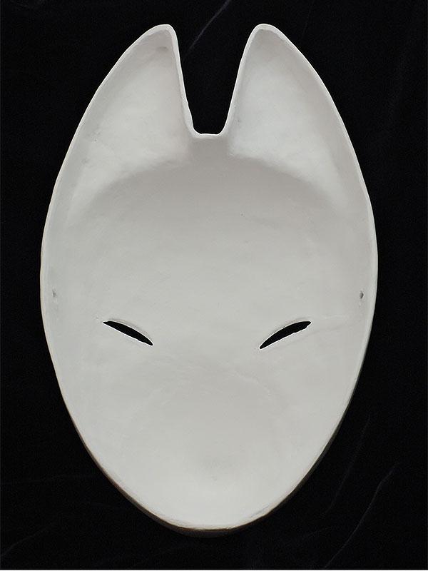 絵付け用白塗り狐面