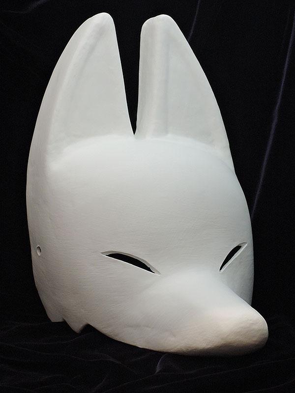 絵付け用白塗り半狐面