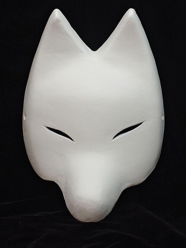 絵付け用白塗り半狐面 弐型
