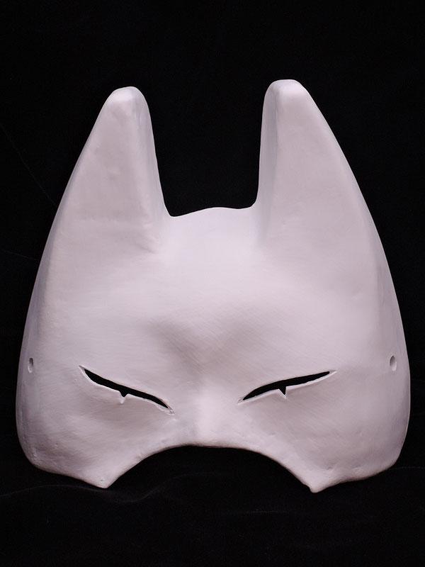 絵付け用白塗り半狐面 参型