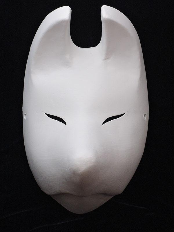 絵付け用白塗り狐面弐