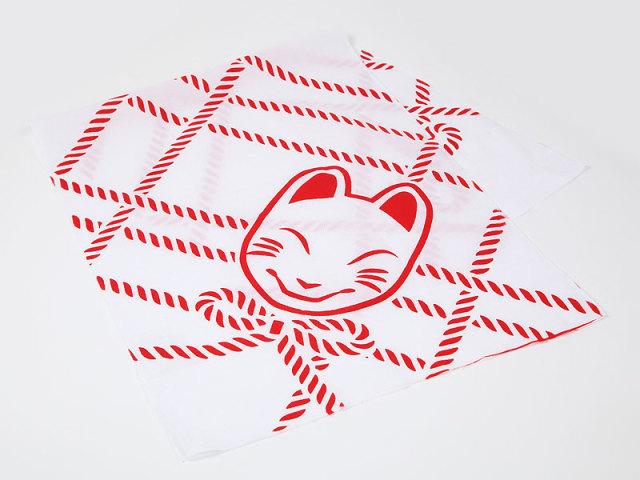 手拭い「狐の紐あそび」