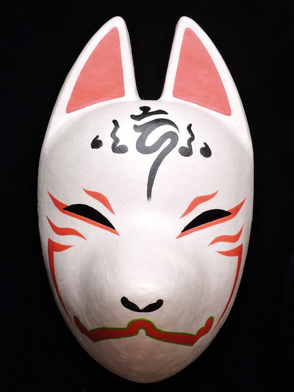 狐面「朱」≪羽二重張り≫