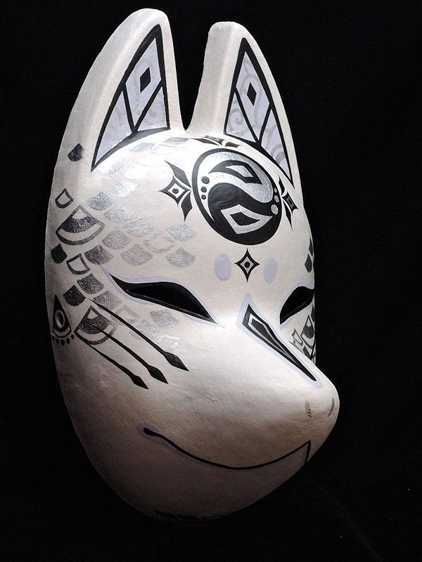 狐面「龍神」≪羽二重張り≫