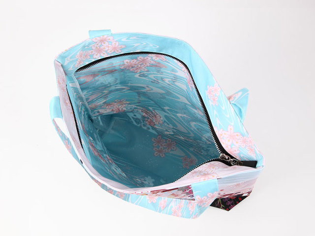 ファスナーバッグ「桜と狐」