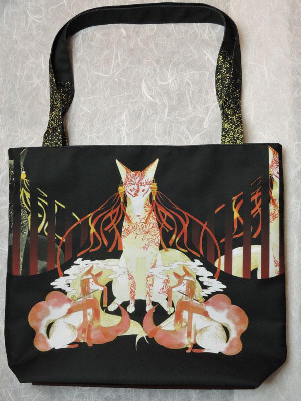 ファスナーバッグ「格子狐」