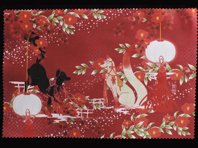 ファイバークロス「狐と椿」