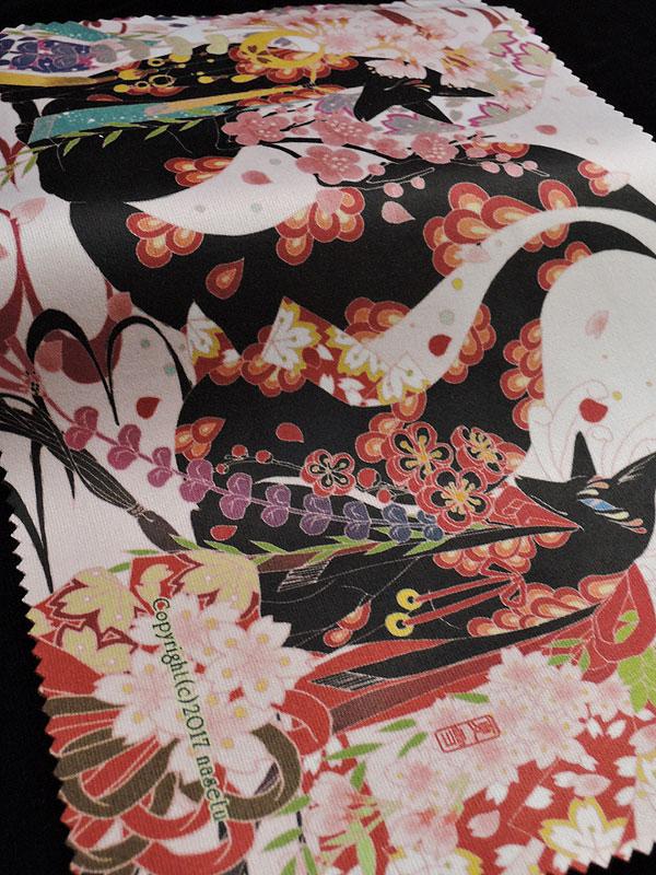 ファイバークロス「桜と黒狐」