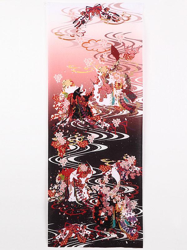 手拭い「桜と狐」