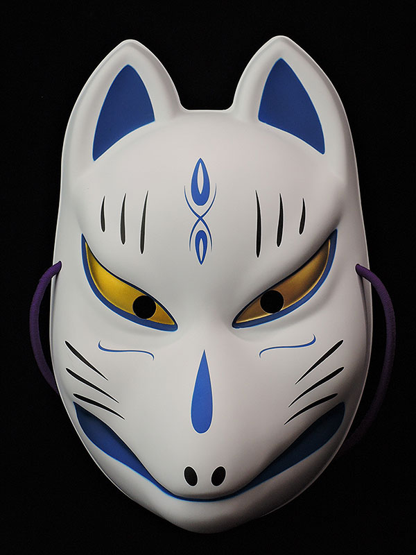 おまつりらんど:狐面(青柄/壱)