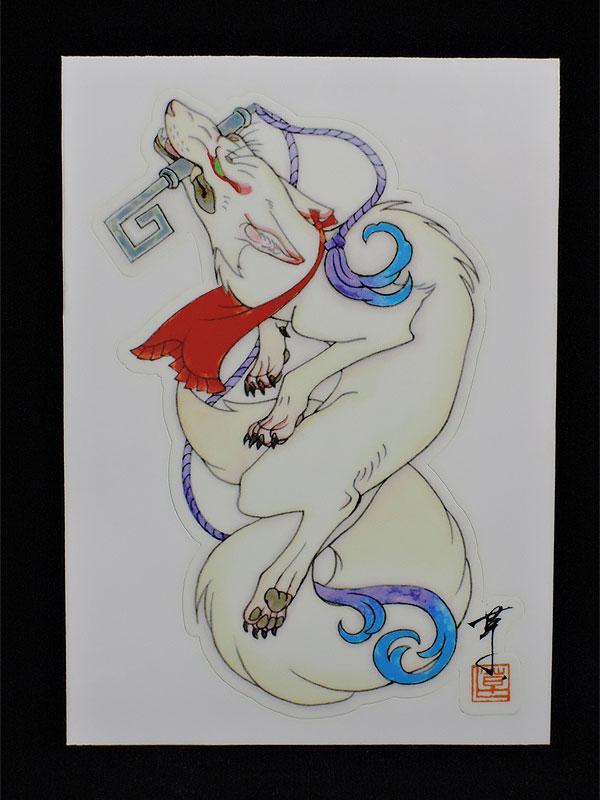 ステッカー【狛狐】(二枚セット)