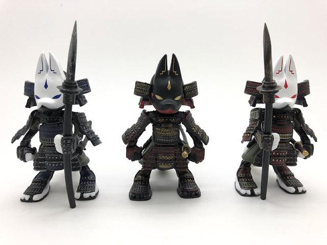 三頭身狐武者 狐獣人×甲冑