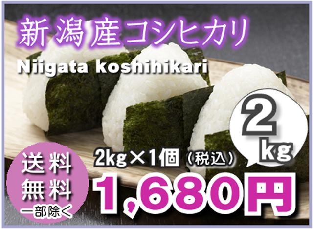 【送料無料】新潟産こしひかり2kg