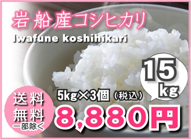 岩船産コシヒカリ5kg×3