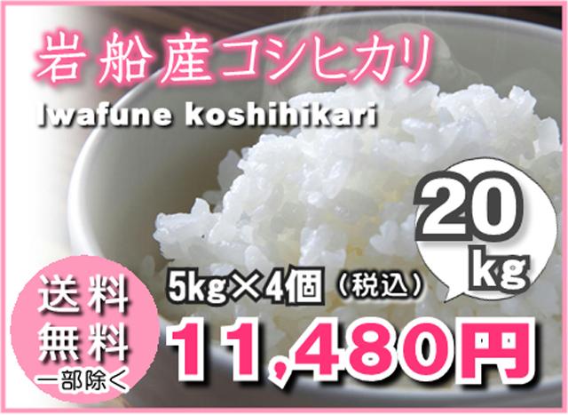 岩船産コシヒカリ5kg×4