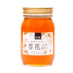 国産ソバ入り百花蜂蜜 600g