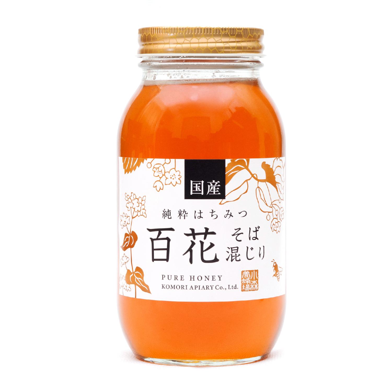 国産ソバ入り百花蜂蜜 1200g